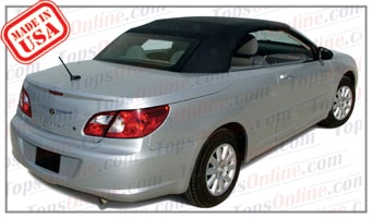 Convertible Tops & Accessories:2007 thru 2010 Chrysler Sebring LX, Touring & Limited