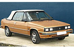 Convertible Tops & Accessories:1985 thru 1987 AMC Renault Alliance
