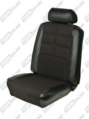 Seat Covers:1969 Ford Mustang (Convertible, Coupe, and Sportsroof) Deluxe Upholstery