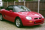 Convertible Tops & Accessories:1996 thru 1998 MG-F & MG-TF