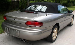 Convertible Tops & Accessories:1996 thru 2000 Chrysler Sebring JX, JXI & Limited