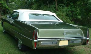 Rubber Weather Seals:1965 thru 1970 Cadillac Deville Convertible