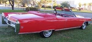 Rubber Weather Seals:1965 thru 1966 Cadillac Eldorado Convertible