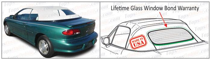 Convertible Tops & Accessories:1995 thru 1998 Chevy Cavalier, Cavalier LS & Cavalier Z24