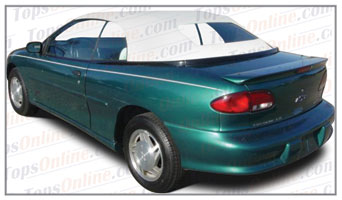 Rubber Weather Seals:1995 thru 2000 Chevy Cavalier, Cavalier LS & Z24 Convertible