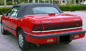 Convertible Tops & Accessories:1987 thru 1989 Chrysler Lebaron