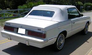 Convertible Tops & Accessories:1984 thru 1986 Chrysler Lebaron