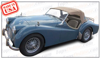 Convertible Tops & Accessories:1955 thru 1957 Triumph TR2, TR3 & Early TR3A Roadster