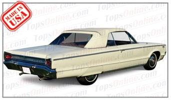 Rubber Weather Seals:1965 and 1966 Dodge Custom & Polara (C Body) Convertible