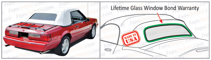 Convertible Tops & Accessories:1991 thru 1993 Ford Mustang (GLX, GT, LX)