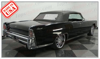 Convertible Tops & Accessories:1964 and 1965 Lincoln Continental 4 Door Convertible