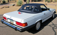 Seat Covers:1985 thru 1989 Mercedes 560SL, 500SL, 420SL & 300SL Convertible (Chassis W107)
