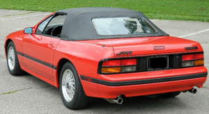 Convertible Tops & Accessories:1988 thru 1992 Mazda RX7