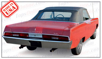 Rubber Weather Seals:1967 and 1968 Plymouth Fury & Sport Fury (C Body) Convertible