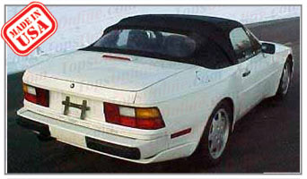 Convertible Tops & Accessories:1989 thru 1995 Porsche 944 S2 & 968 Cabriolet