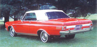 Rubber Weather Seals:1964 thru 1965 Plymouth Fury, Sport Fury, Belvedere & Satellite (B Body) Convertible