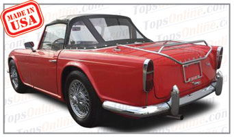 Convertible Tops & Accessories:1961 thru 1965 Triumph TR4 Roadster