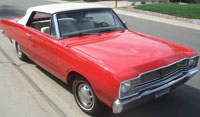 Convertible Tops & Accessories:1967 thru 1969 Dodge Dart & Dart GT (A Body)