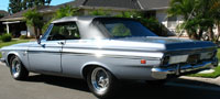 Rubber Weather Seals:1963 Plymouth Fury & Sport Fury (B Body) Convertible