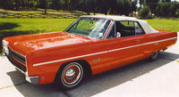 Convertible Tops & Accessories:1967 thru 1968 Plymouth Fury & Sport Fury (C Body)