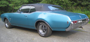 Rubber Weather Seals:1968 Oldsmobile 442 & Cutlass Convertible