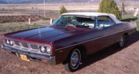 Convertible Tops & Accessories:1969 and 1970 Dodge Polara, Polara 500 & Monaco (C Body)