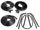 Convertible Tops & Accessories:1965 thru 1970 Oldsmobile 98 & Ninety Eight:1965 Only 10 Piece Kit Includes Top Frame Seals, Door Seals & Trunk Seal