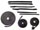 Rubber Weather Seals:1965 thru 1970 Oldsmobile Delmont 88, Delta 88, Dynamic 88, Jetstar 88 & Starfire Convertible:Weather Seal GM B Body 1966 9 Piece Seal Kit