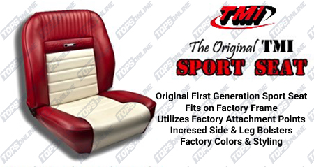 Seat Covers:1964 and 1965 Ford Mustang and Shelby (Convertible, Coupe and Fastback) Standard Upholstery