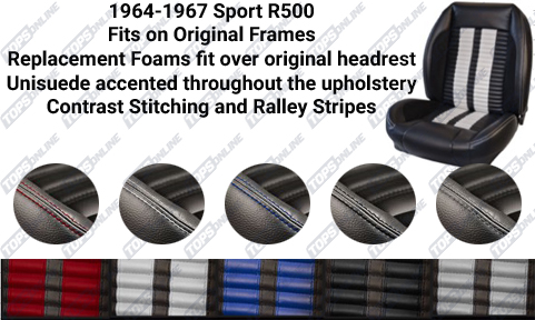 Seat Covers:1964 thru 1965 Ford Mustang and Shelby (Convertible, Coupe and Fastback) Deluxe Upholstery