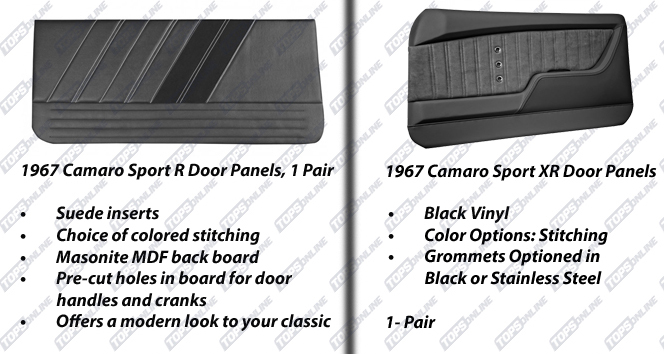 Door Panels:1967 Chevy Camaro Coupe Only
