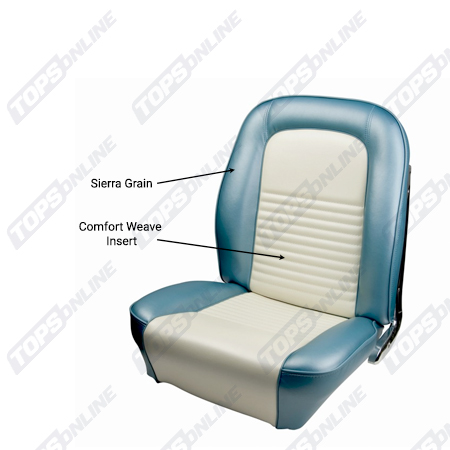 Seat Covers:1967 Ford Mustang and Shelby (Convertible, Coupe, Fastback) Deluxe Upholstery