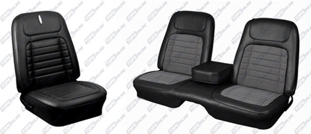 Seat Covers:1968 Chevy Camaro Convertible Only