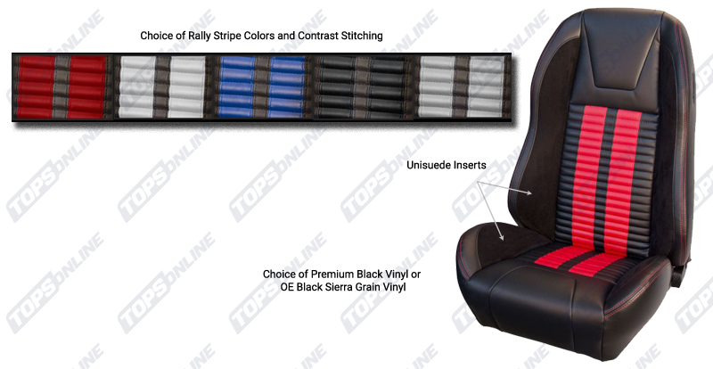 Seat Covers:1970 Ford Mustang (Convertible, Coupe, and Sportsroof) Deluxe Upholstery