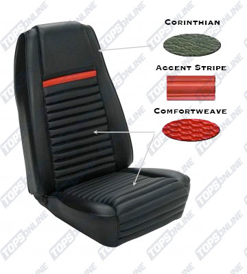 Seat Covers:1969 Ford Mustang Mach 1 and Shelby (Convertible, Coupe, and Sportsroof)