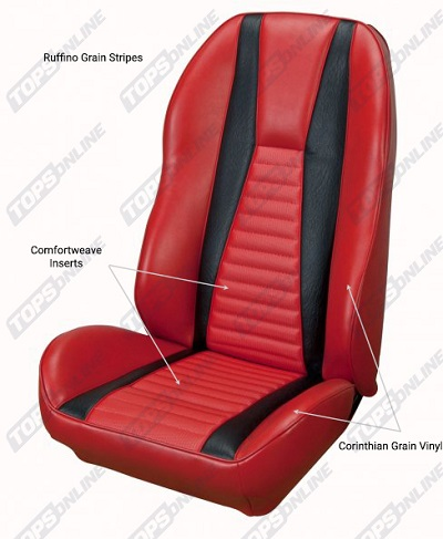 Seat Covers:1972 thru 1973 Ford Mustang Mach 1 (Convertible, Coupe, and Sportsroof)