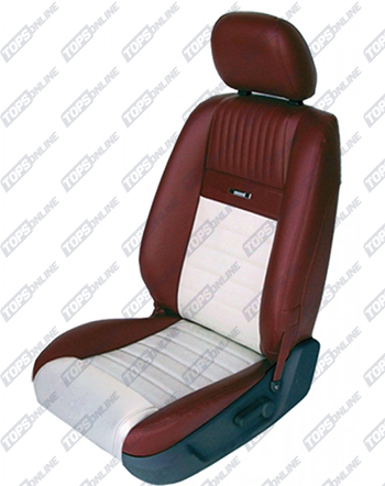 Seat Covers:2005 thru 2007 Ford Mustang Pony Style (Convertible and Coupe)