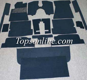 Seat Covers:1980 thru 1985 Mercedes 380SL, 280SL & 500SL Convertible (Chassis W107)