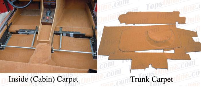 Carpet Kits:1980 thru 1985 Mercedes Benz 380SL, 280SL & 500SL (R107 Chassis)