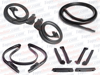Rubber Weather Seals:1986 thru 1996 Chevy Corvette (C4) Convertible