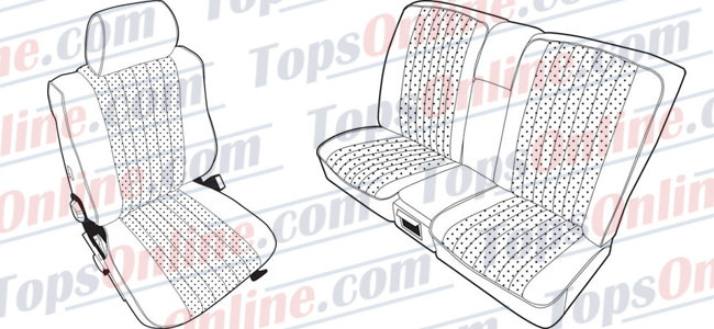 Seat Covers:1979 thru 1985 Mercedes 230C, 230CE, 280C, 280CE & 300CD 2 Door Coupe (Chassis C123)