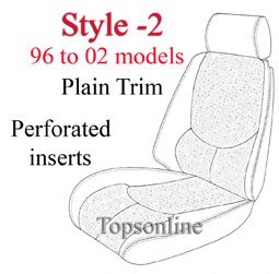 Seat Covers:1990 thru 2002 Mercedes 300SL, 500SL, 600SL, SL320, SL500 & SL600 Convertible (Chassis R129)