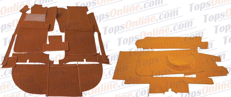 Carpet Kits:1972 thru 1982 Mercedes 450SLC, 380SLC, 350SLC, 500SLC & 280SLC 2 Door Coupe (C107 Chassis)