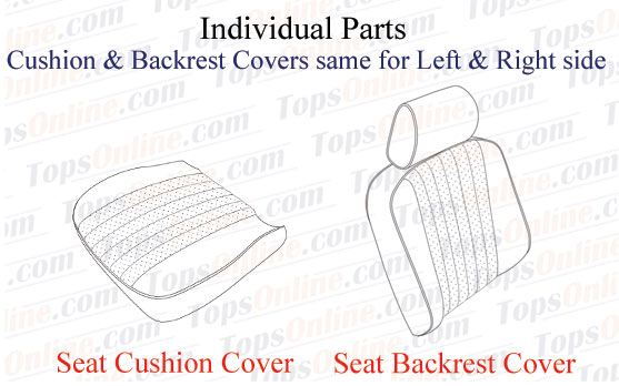 Seat Covers:1985 thru 1989 Mercedes 560SL, 500SL, 420SL & 300SL Convertible (R107 Chassis)