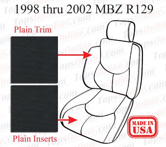 Seat Covers:1998 thru 2002 Mercedes SL280, SL320, SL500 & SL600 (R129 Chassis)