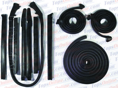 Rubber Weather Seals:1966 thru 1967 Pontiac GTO, Lemans & Tempest Convertible