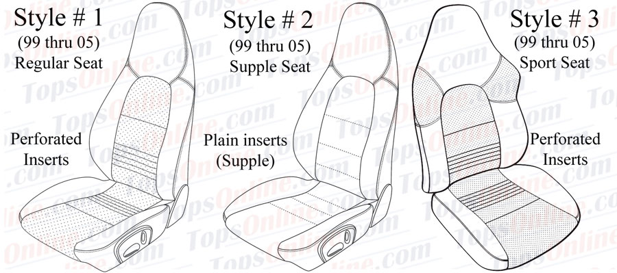Seat Covers:1999 thru 2005 Porsche 911 - 996 - 997 Carrera, Carrera 4 & Turbo
