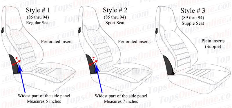Seat Covers:1985 thru 1994 Porsche 911, 912, 930, 964, Carrera, Carrera 2 & Carrera 4