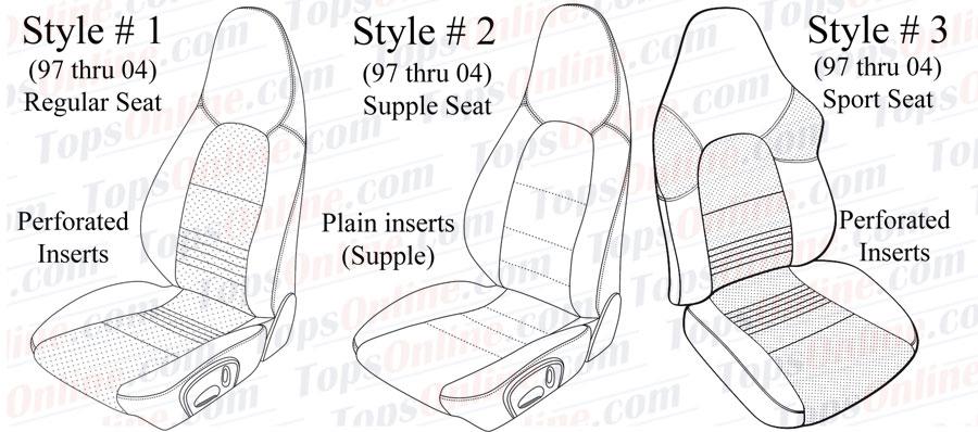Seat Covers:1997 thru 2004 Porsche Boxster & Boxster S (986)