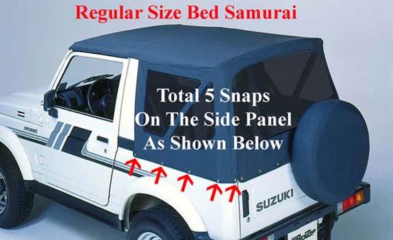 Convertible Tops & Accessories:1983 thru 1994 Suzuki Samurai, Santana, SJ410, SJ413 & Sierra